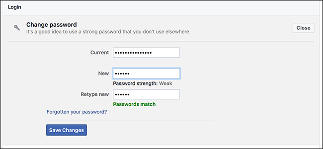 Always Use A Strong And Complex Password